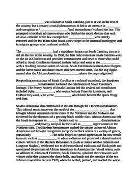 South Carolina History - Partner Read - 8-6.2
