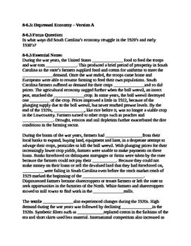 South Carolina History - Partner Read - 8-6.3