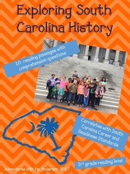 South Carolina History Reading Passages + Comprehension