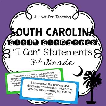 "South Carolina SCCCR ""I Can"" Statements {3rd Grade}"