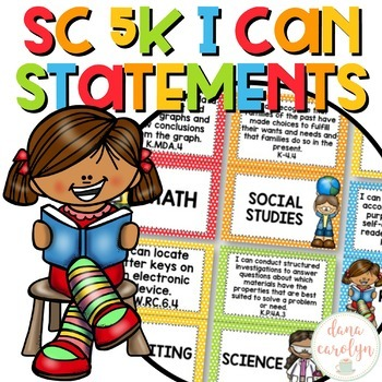 South Carolina Kindergarten I Can Statements