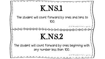 South Carolina Kindergarten (Kdg) Math Standards