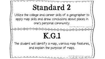 South Carolina Kindergarten (Kdg) Social Studies (SS) Standards
