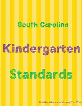 South Carolina Kindergarten (Kdg) Standards BUNDLE