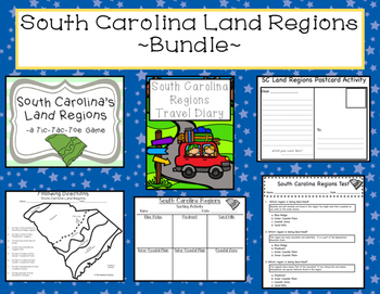 South Carolina Land Regions Bundle