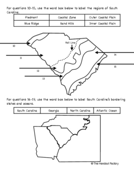 South Carolina Regions Test