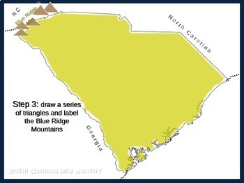 South Carolina Map Activity- fun, engaging, follow-along 20-slide PPT