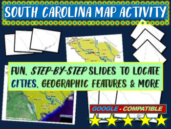 South Carolina Map Activity- fun, engaging, follow-along 2