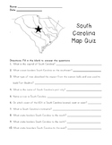 South Carolina Map Quiz with Answer Key