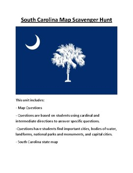 South Carolina Map Scavenger Hunt
