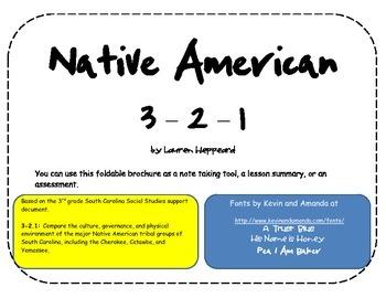 South Carolina Native American 3-2-1 Brochure