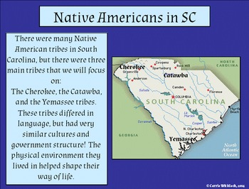 South Carolina- Native Americans Presentation: Cherokee, Catawba, Yemassee 3-2.1