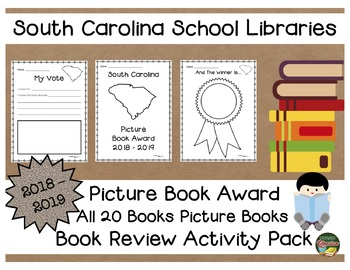 South Carolina Picture Book Award 2018 - 2019 Book Review Activity Pack