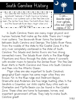South Carolina Read and Respond Passages