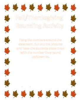 Thanksgiving Rounding Activity