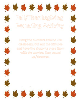 Thanksgiving Rounding Activity