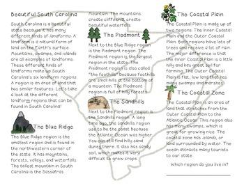 South Carolina Regions Brochure
