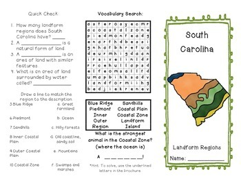 South Carolina Regions Brochure