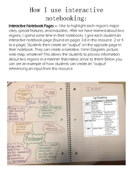 South Carolina Regions Interactive Notebook Pages