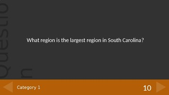 South Carolina Regions Jeopardy