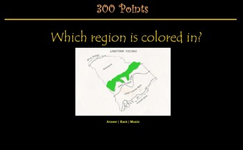 South Carolina Regions Jeopardy Review Game