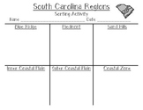 South Carolina Regions: Sorting Activity