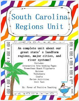 South Carolina Regions Unit Bundle (3-1.1, 3-1.2, 3-1.3)