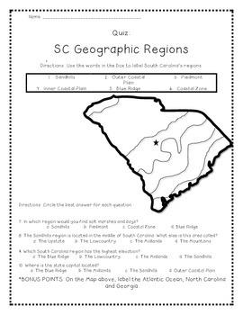 South Carolina Regions map