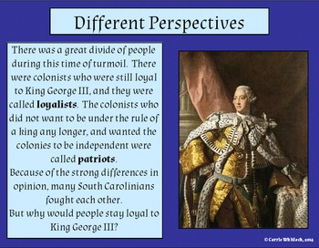 South Carolina - Revolutionary War Perspectives Presentation 3-3.2