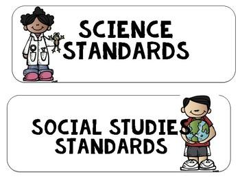 """South Carolina SCCCR """"I Can"""" Standard Statements Chevron {4th Grade}"""