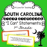 "South Carolina State Standards SCCCR ""I Can"" Statements {1st Grade}"