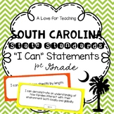 "South Carolina State Standards SCCCR ""I Can"" Statements Chevron {1st Grade}"
