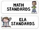 "South Carolina State Standards SCCCR ""I Can"" Statements Chevron {1st Grade}"