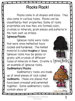 South Carolina Science Aligned: Earth's Materials and Changes Lapbook & MiniBook