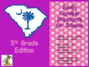 South Carolina Science Standards 5th Grade