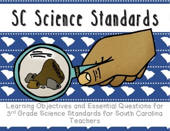 "South Carolina Science Standards: Essential Questions and ""I can"" statements"