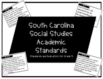 South Carolina Social Studies Academic Standards Grade 5 | Standards Cards