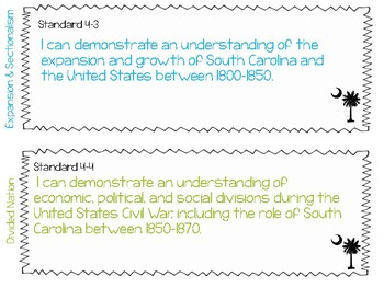 South Carolina Social Studies Standards 4th Grade