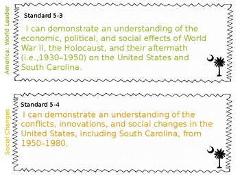 South Carolina Social Studies Standards 5th Grade