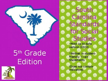 South Carolina Social Studies Standards 5th Grade