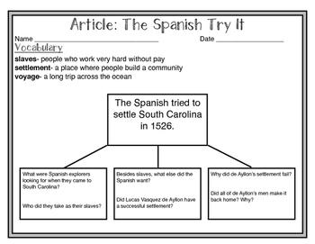 South Carolina Social Studies Weekly: Week 3 South Carolina Discovered