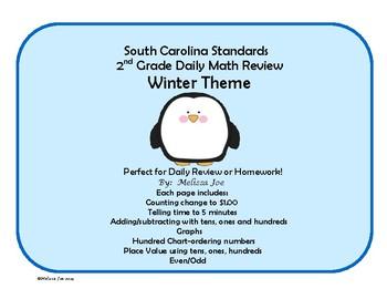 South Carolina Standards 2nd Grade Math Review--Winter Theme