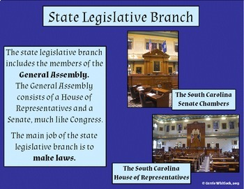 South Carolina - State Government (Three Branches) Presentation 3-3.5