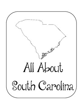 South Carolina State Lapbook. Interactive Notebook. US History and Geography