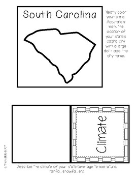 South Carolina State Research Lapbook Interactive Project