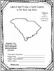 South Carolina State Research Report Project Template + Timeline Craftivity SC