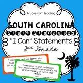 "South Carolina State Standards ""I Can"" Statements {2nd Grade}"