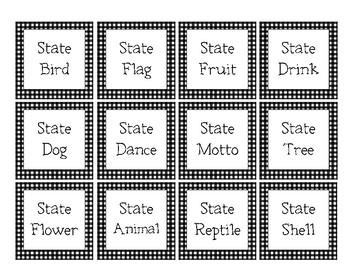 South Carolina State Symbols Match Cards