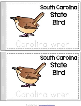 South Carolina State Symbols Notebook
