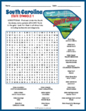 SOUTH CAROLINA State Symbols Word Search Puzzle Worksheet Activity